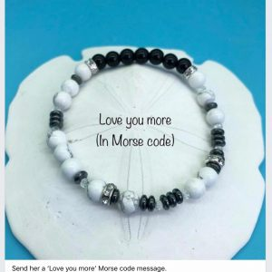 Morse Code Bracelet 'Love You More'