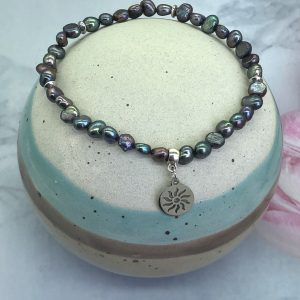 Freshwater Pearl Anklet With Sun Charm