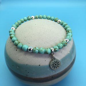 Turquoise Anklet With Sun Charm