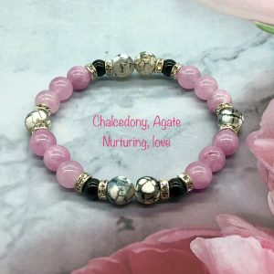 Chalcedony And Agate Bracelet