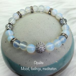Opalite Bracelet With Crystal Ball