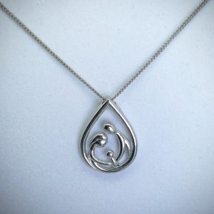 Silver Family Necklace