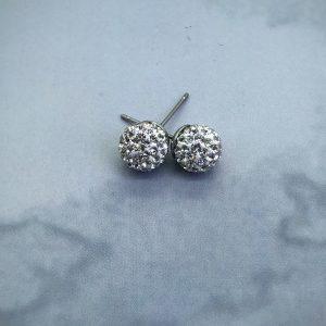 Crystal Ball 8mm Earrings Crystal