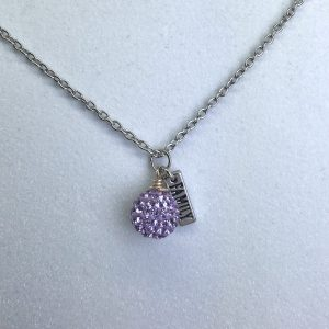 Crystal Ball Crystal Necklace Violet
