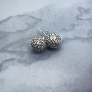 Pave Ball 10mm Earrings Crystal