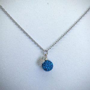 Crystal Ball Necklace Capri Blue