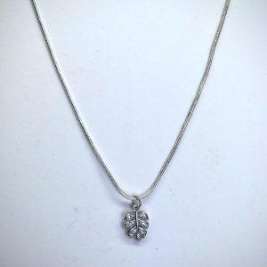 Rhinestone Leaf Necklace
