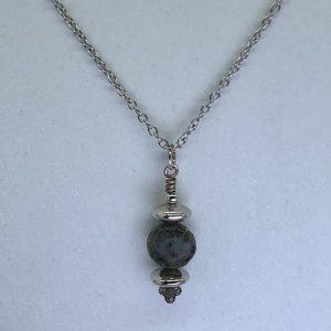 Jasper Stone Drop Necklace