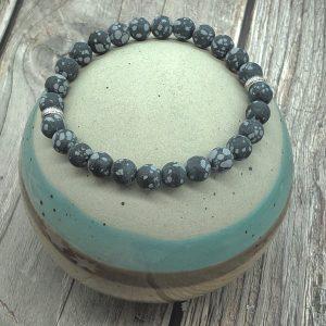 Mens Obsidian Bracelet