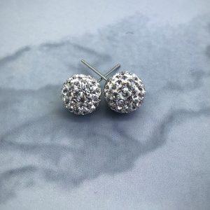 Crystal Ball 10mm Earrings Crystal