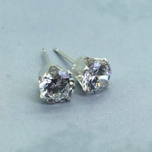 6mm CZ  Earrings