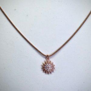 Rose Gold Sun Necklace