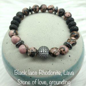 Black Lace Rhodonite Diffuser