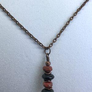 Red Jasper Drop Necklace