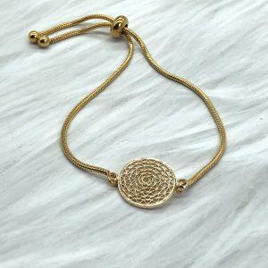 Slide Bracelet Golden Web