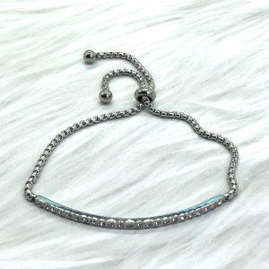 Slide Bracelet Silver Bar