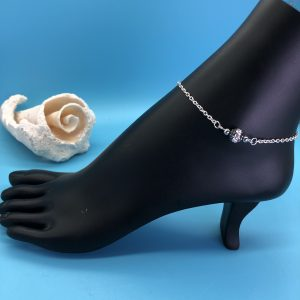 Chain Anklet with Crystal Ball