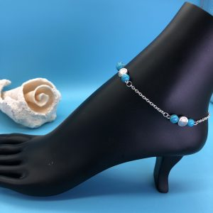 Chain Anklet Turquoise