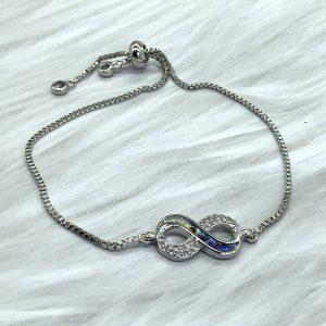 Slide Bracelet Silver Infinity