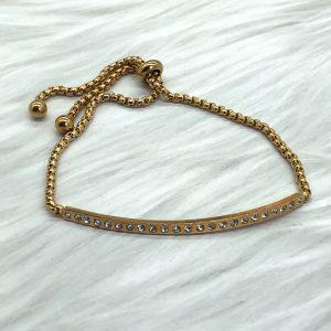 Slide Bracelet Gold Bar