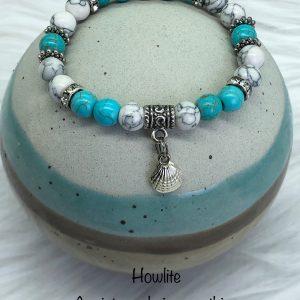 Howlite Bracelet With Seashell Charm
