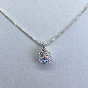 Crystal Ball Crystal Necklace AB