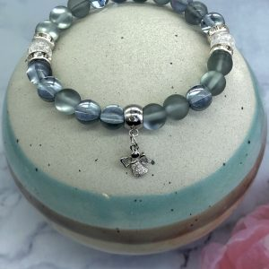 Quartz Bracelet With Angel Charm