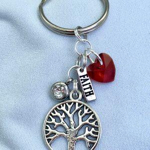 Tree Of Life Faith Keychain / Purse Bling